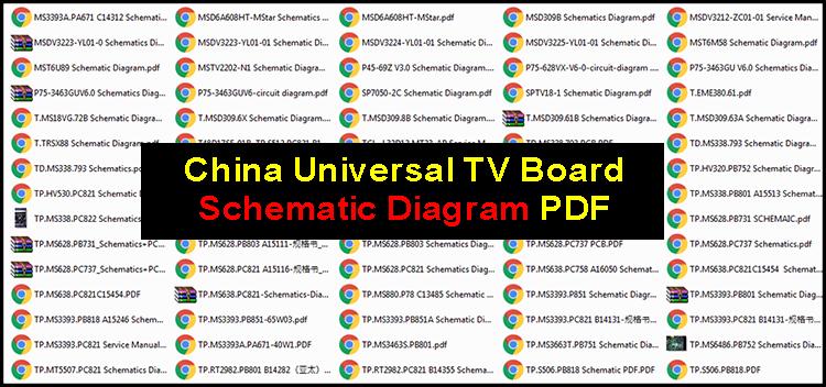 China Universal TV Board Schematic Diagram PDF