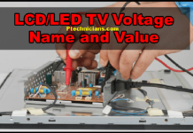 LCD/LED TV All Voltage Name and their Value Details