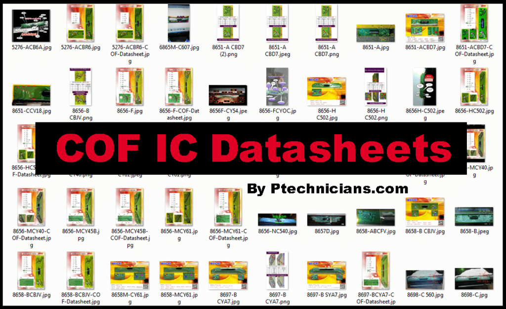 All Panel COF IC Datasheets Collection Free Download