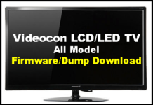 All Videocon LCD/LED TV Software Firmware, Dump Files Download